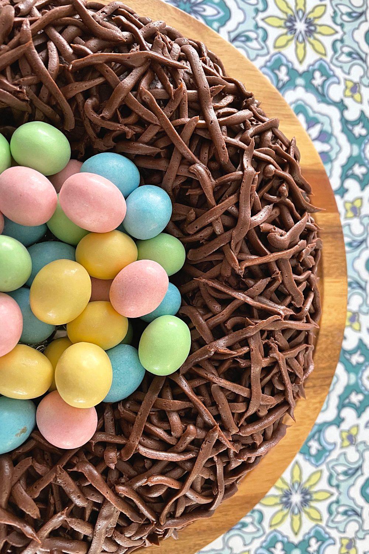 robin's nest easter bundt cake pin