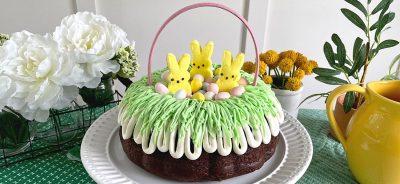 easter basket Bundt Cake