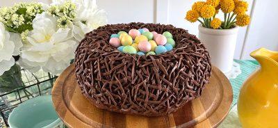 easter nest bundt cake