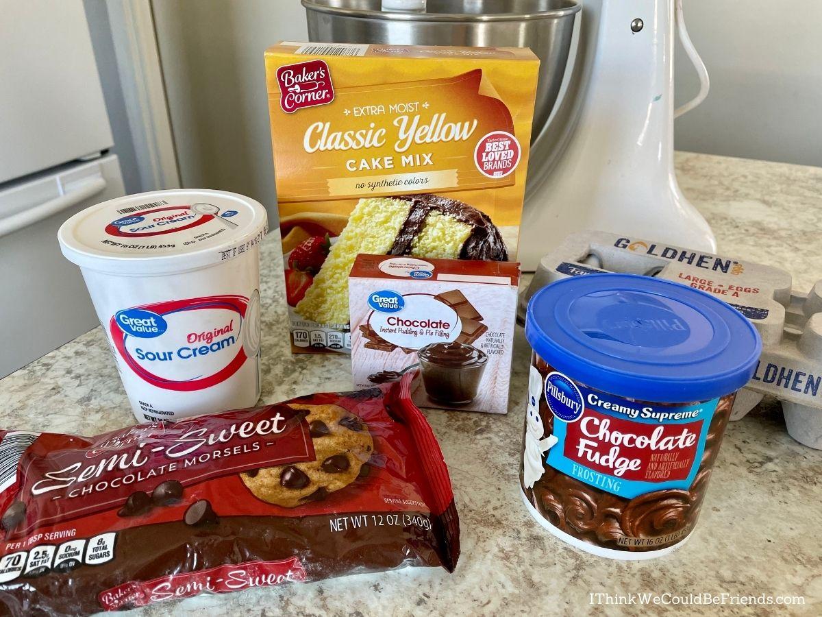 easter nest bundt cake ingredients