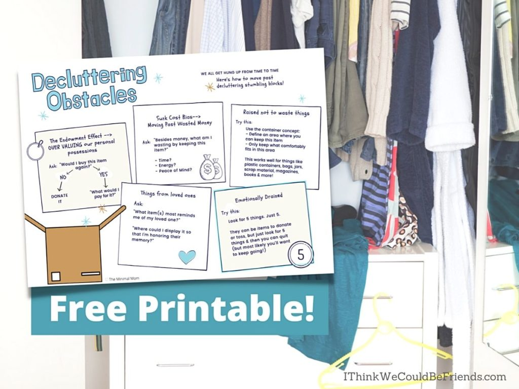 free printable graphic with clutter background