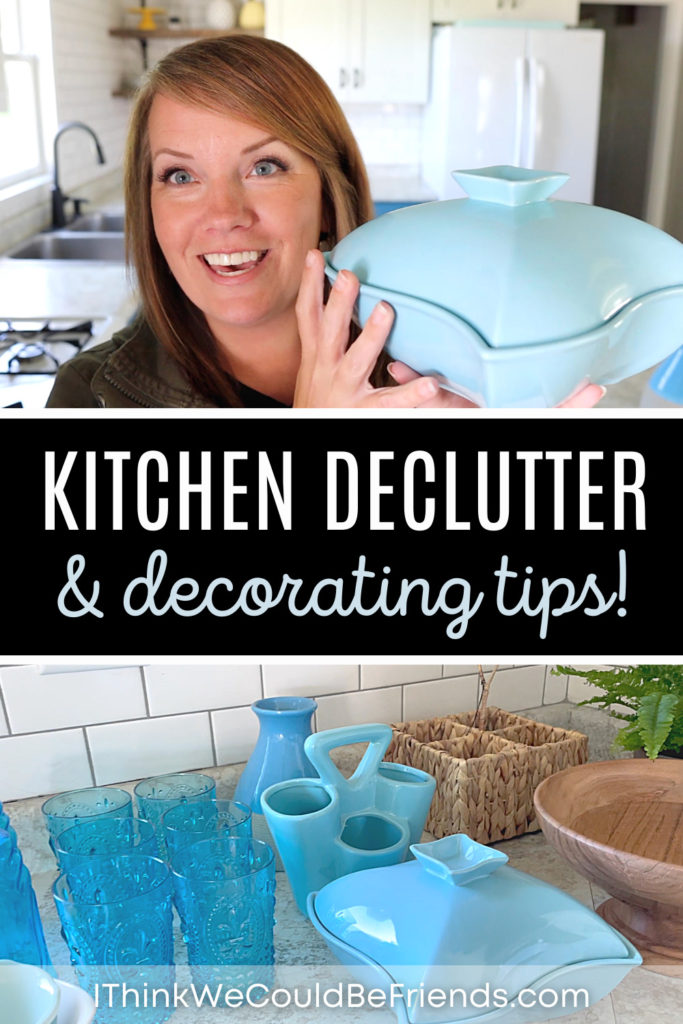 pin, kitchen declutter & decorating tips