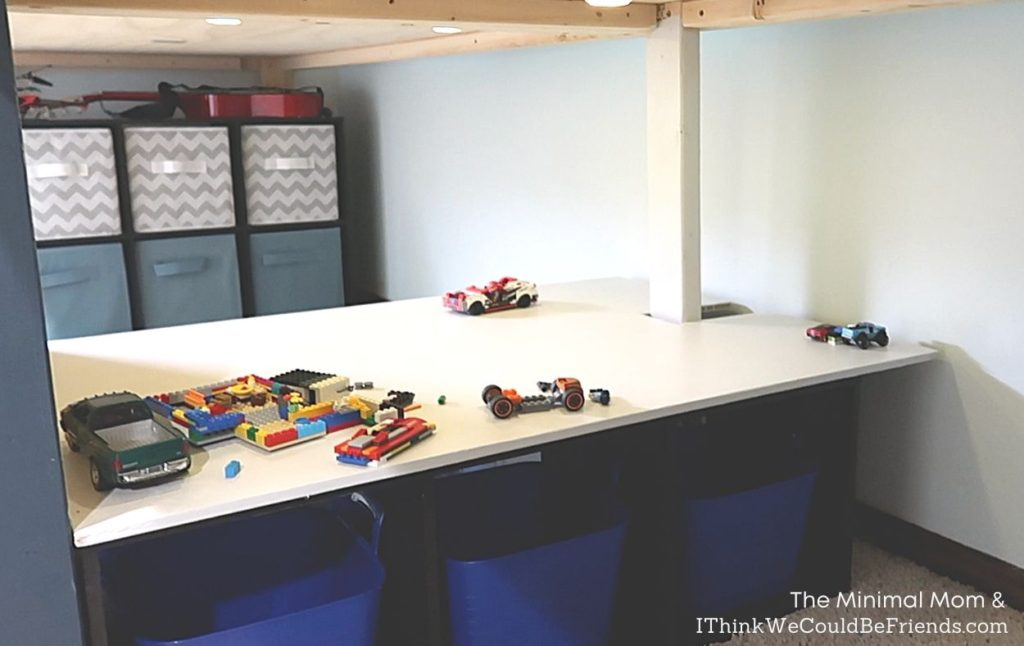 play area in boys' room