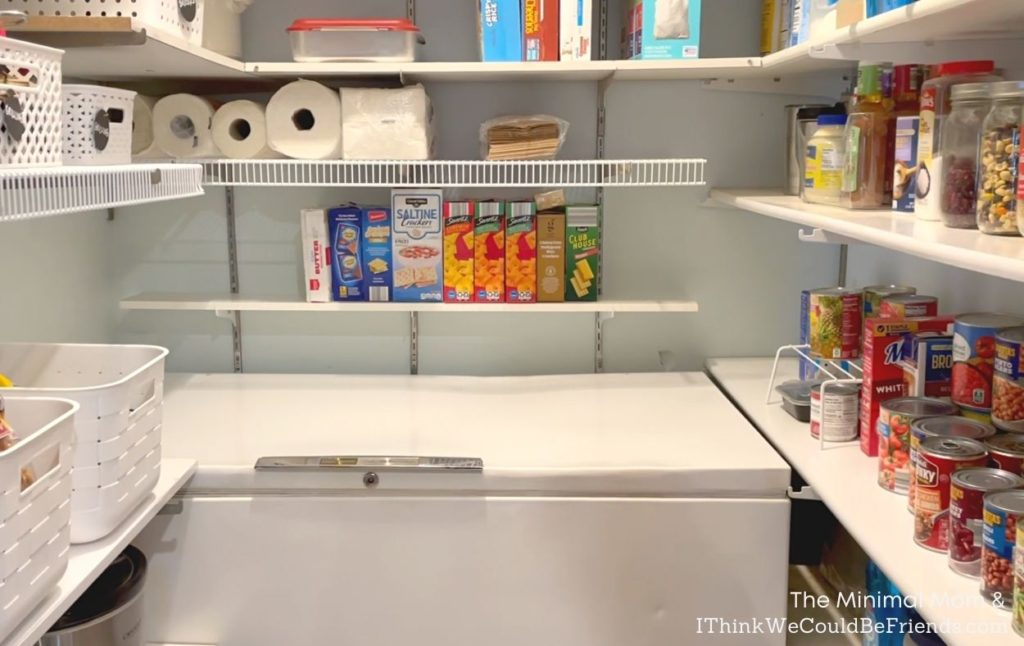 pantry declutter, after photo