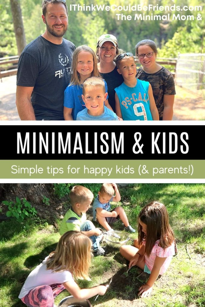 pin, minimalism & kids, simple tips for happy kids & parents
