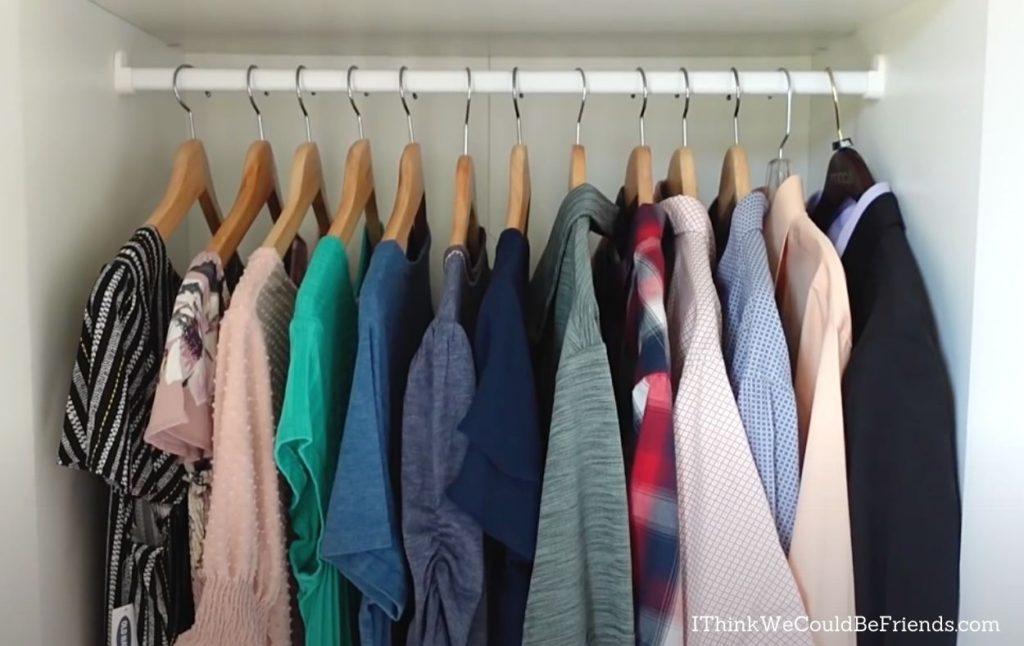 clothes in closet