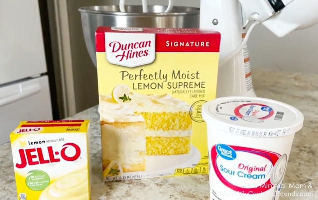 lemon bundt cake ingredients