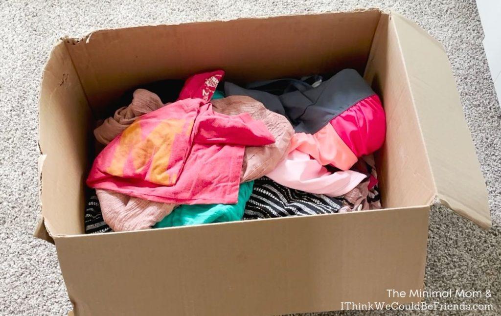 quarantine bin with clothes
