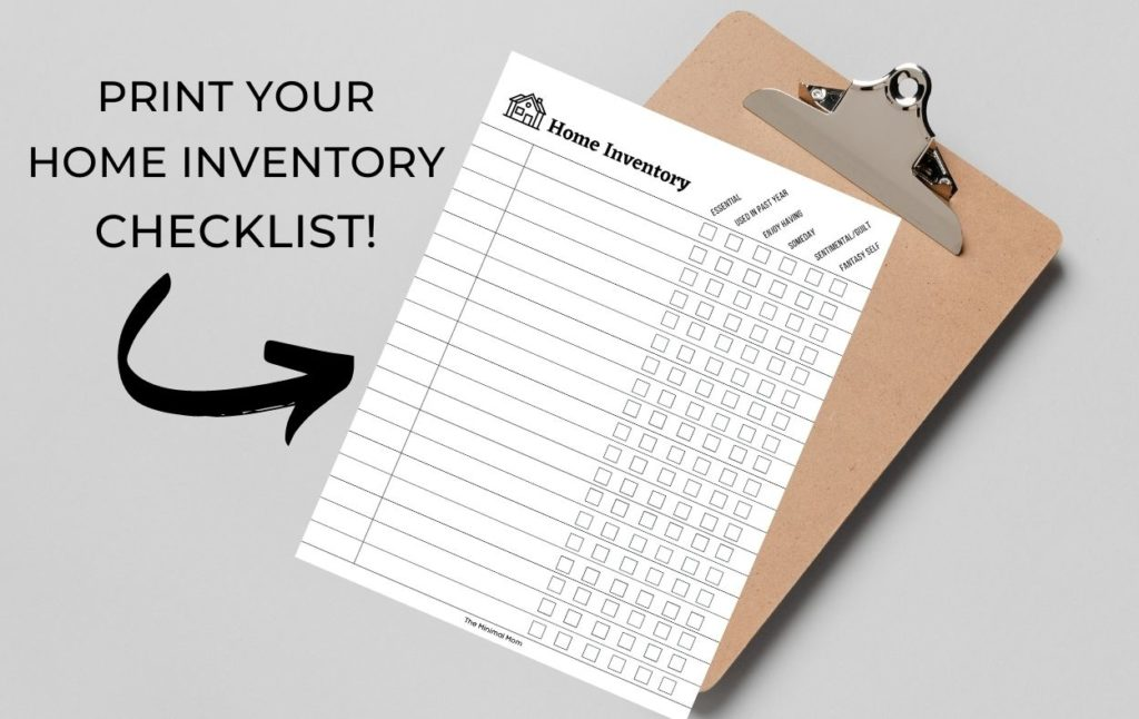 print your home inventory checklist