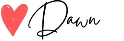 signature with heart