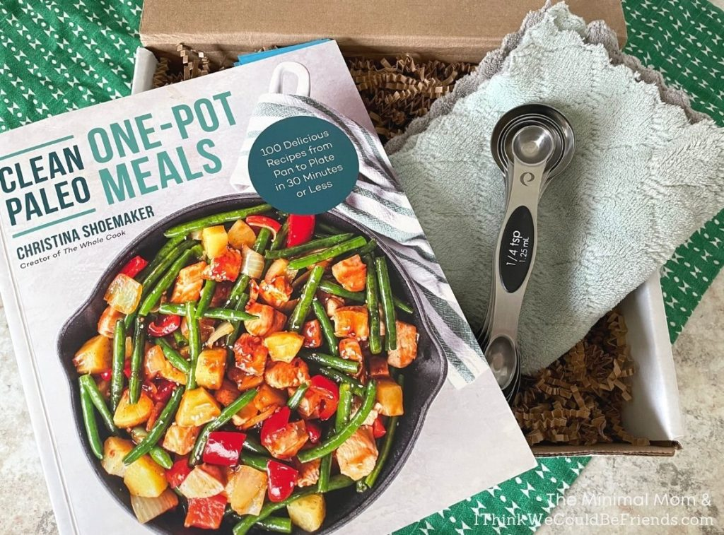 Clean Paleo recipe book & measuring spoons