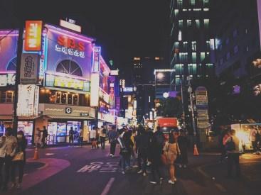 Gangnam lights at night