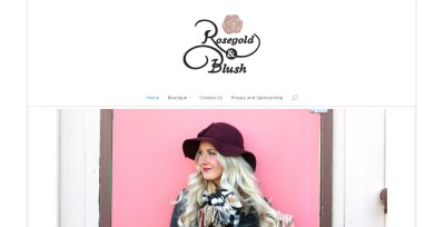 Rosegold and Blush Website