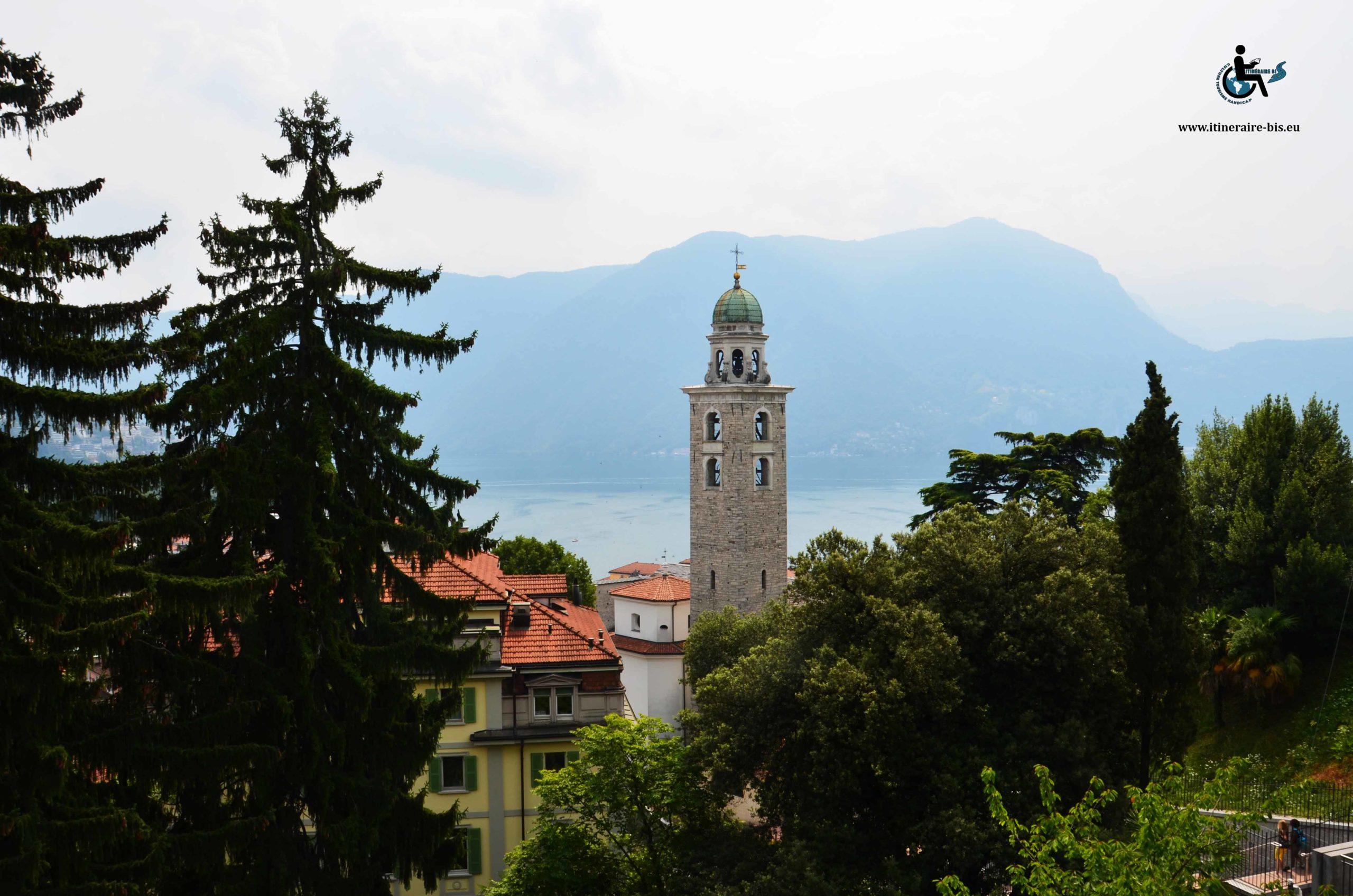 Vue des hauteur de Lugano