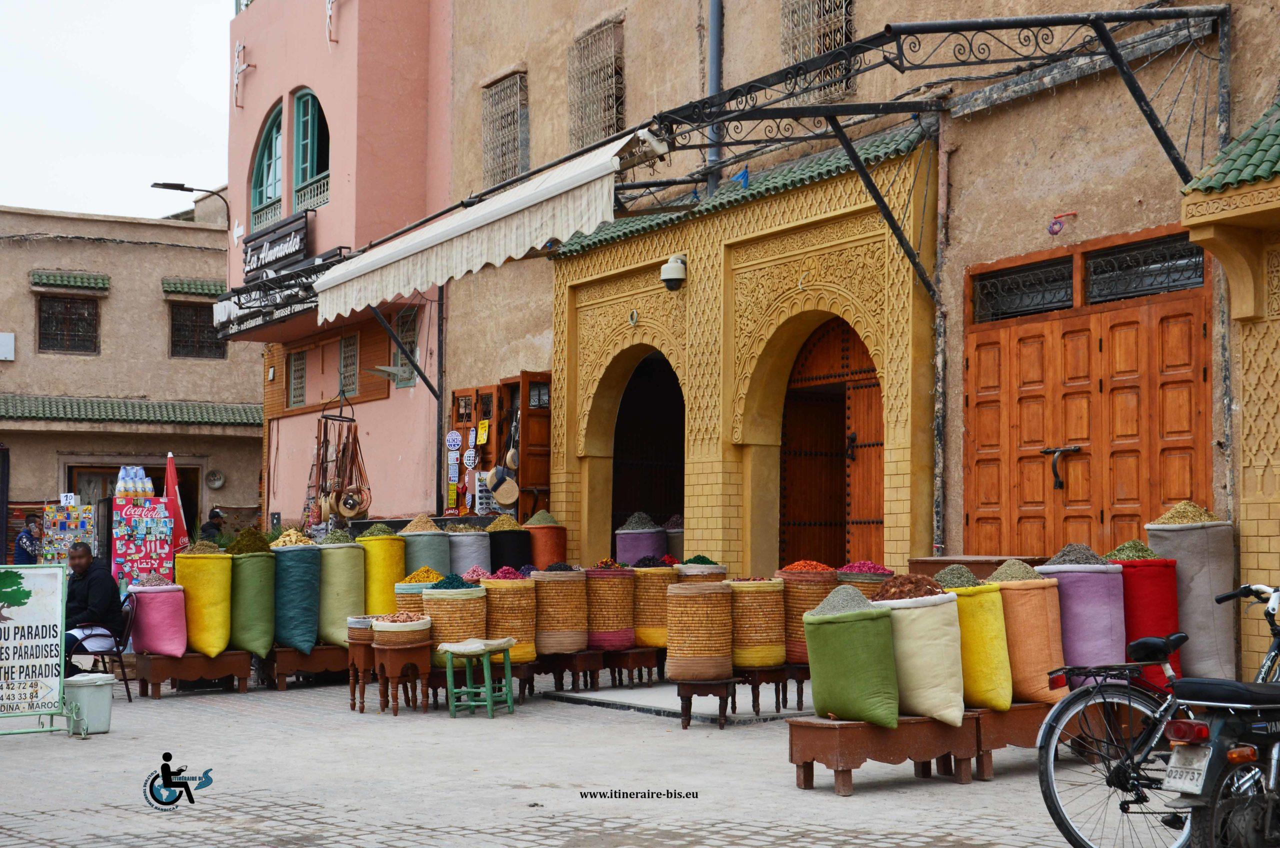 Cette boutique se situe près du musée de marrakech