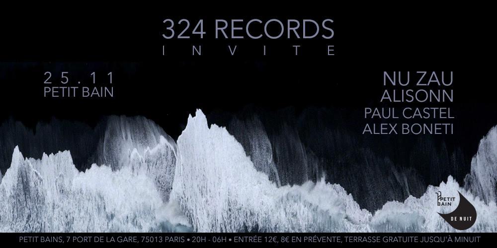 Jeux concours - Soirée 324 Records le 25 novembre au Petit Bain