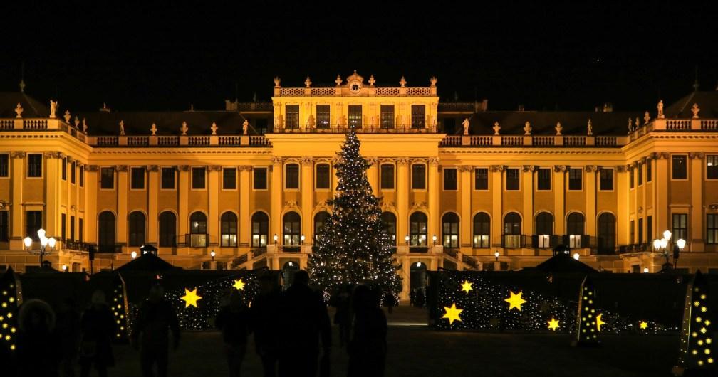 Marché de Noël Schönbrunn nuit