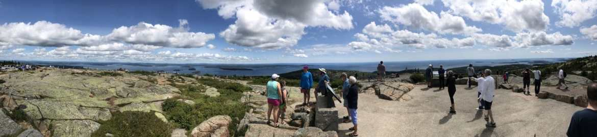 View from Cadillac Mountain Bar Harbor Maine