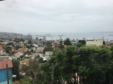 View from Pablo Neruda's bedroom