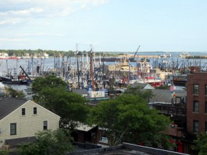 New Bedford Harbor (from roof terrace of the Whaling Museum)