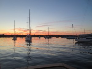 Sunset in Stonington Harbor
