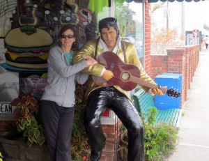 Adrienne Hanging With Elvis