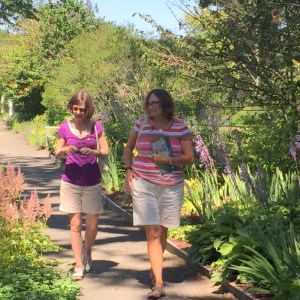 Ade and Anne Strolling Thru the Gardens