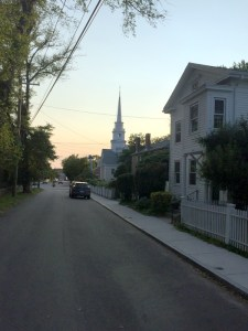 Stonington, Connecticut in then Early Evening
