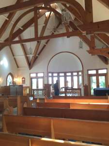 Inside the village Chapel