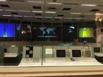 Historic Mission Control in Houston. We sat in the same seats presidents sat in.