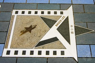 The star of Bruce Lee in Hong Kong city