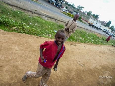 kids asking for candies in Kenya