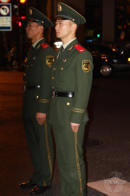 Men in military uniforms in Shanghai