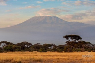 View of Mt Kilimanjaro at Amboseli National Park