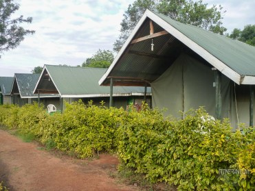 Our permanent tent at Rhino Camp