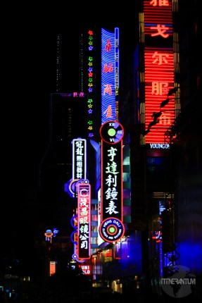 Neon lights in Shanghai