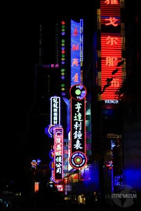 Neon lights in Shanghai