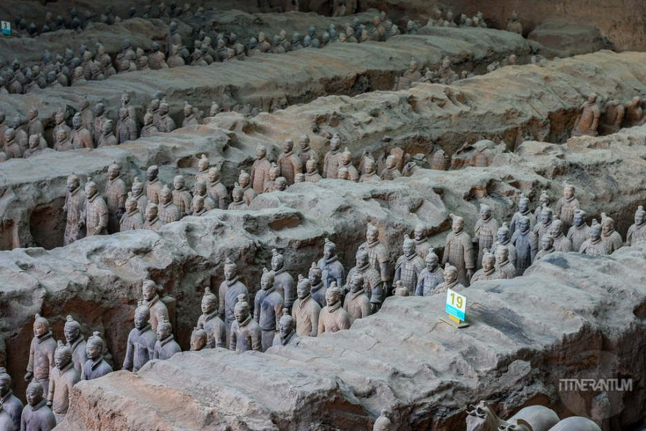Terracotta Warriors aligned in pit1, the largest discovered so far
