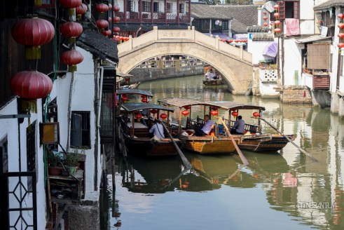 Boats waiting for tourists in Zujiajiao