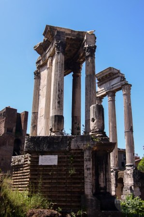 Temple of Castor Pollux in Roman Forum