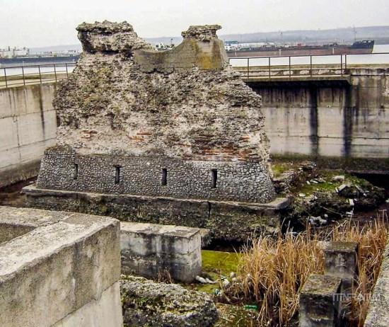 Ruins of Trajan's bridge in Romania