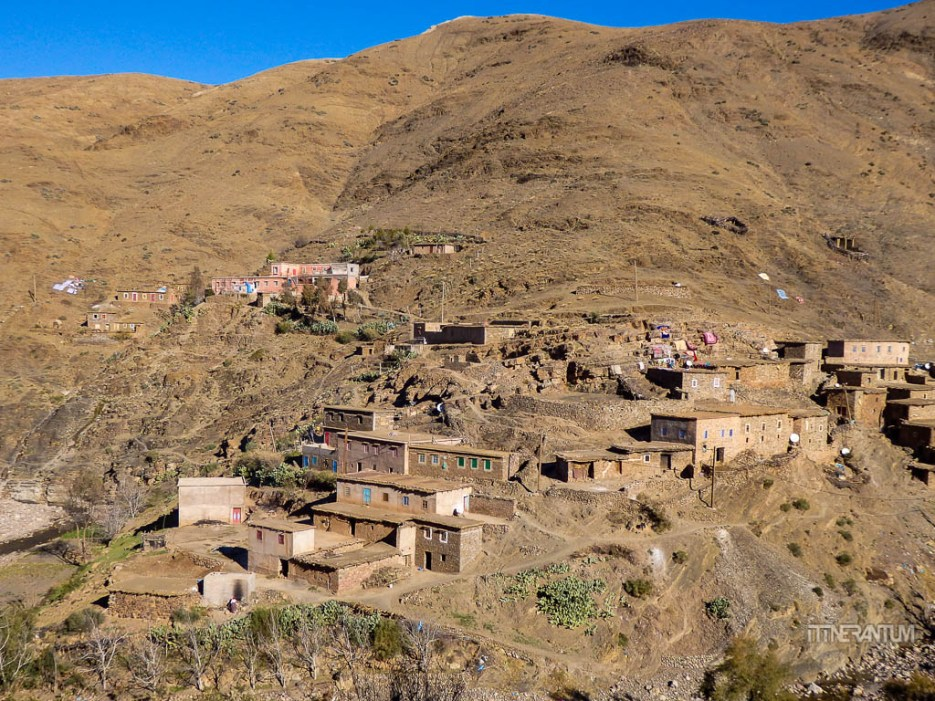 view over the villages in imlil, morocco itinerary
