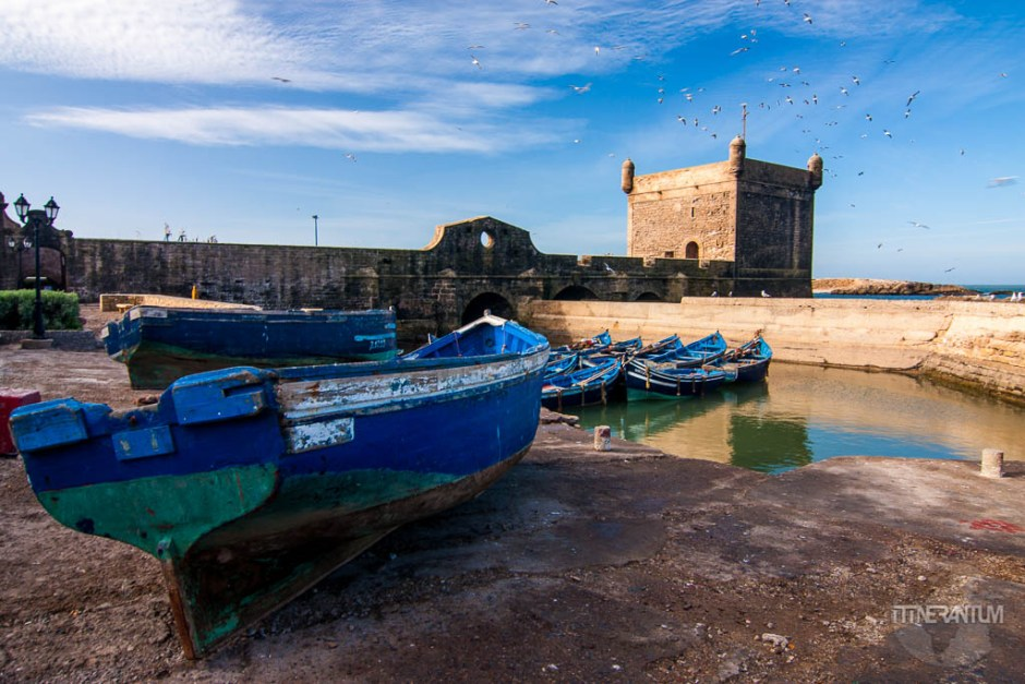 Essaouira ramparts, morocco itinerary