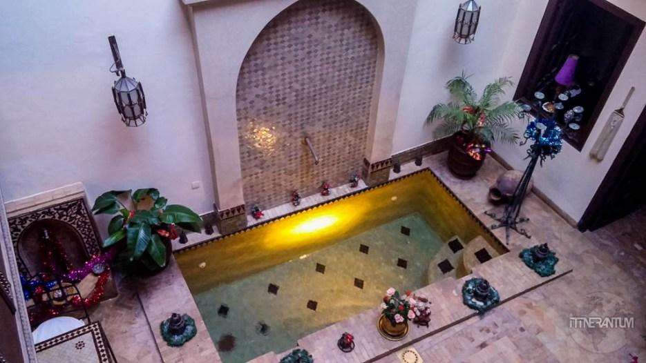 inside riad aubrac, marrakech, morocco itinerary