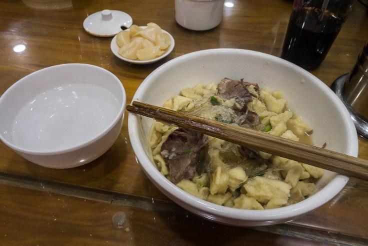 Köstliches mongolisches Essen
