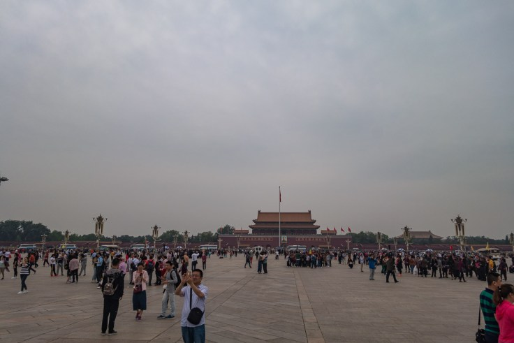 Aufnahme vom Tian'anmen Platz - zumindest ein Versuch