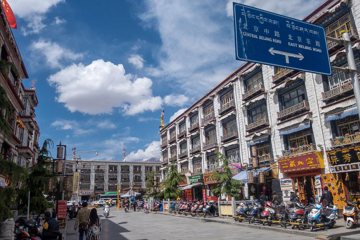 Strassenszene in Lhasa