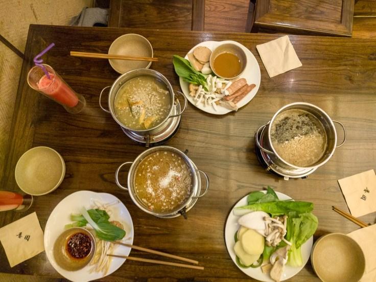 Abschlussessen in Chengdu - vegetarischer Hot Pot