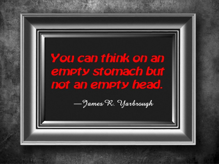 Can You Think on Empty Head 1-27-16
