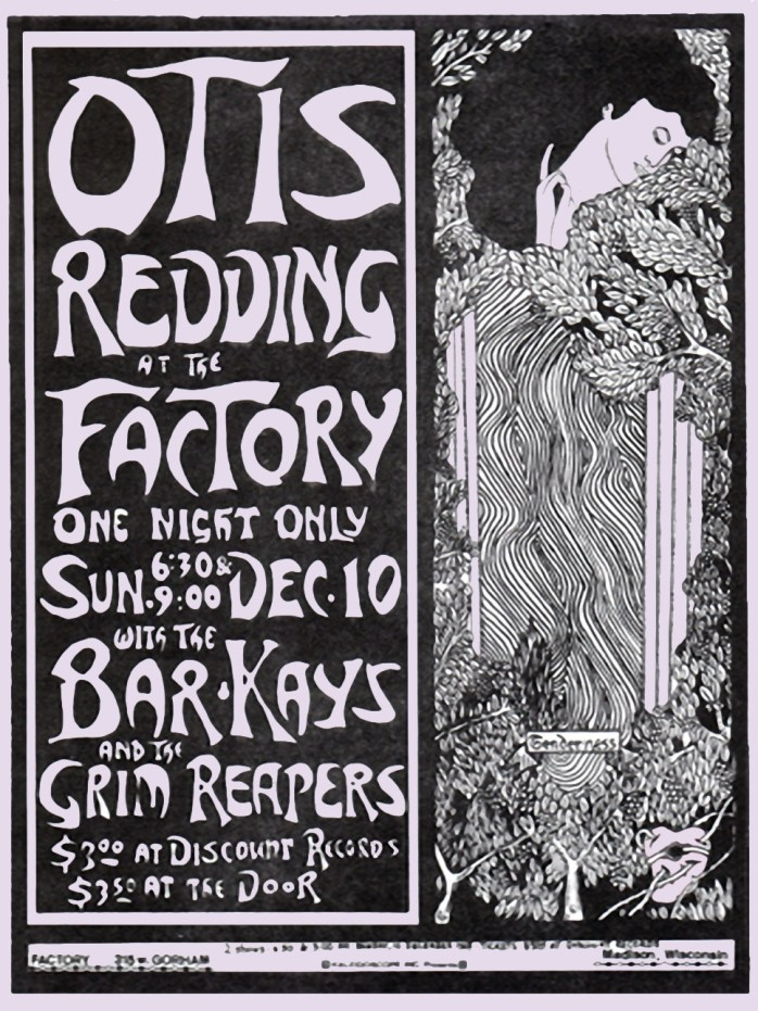 Otis Redding Madison Wisconsin Poster (2-21-16)